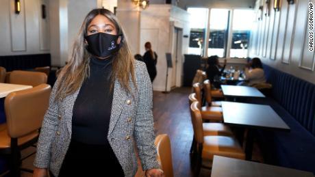 Nya Marshall in her restaurant in February.