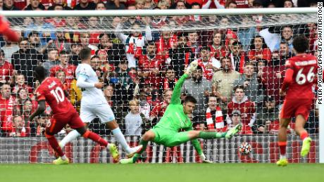 Sadio Mane scored the second goal for Liverpool.