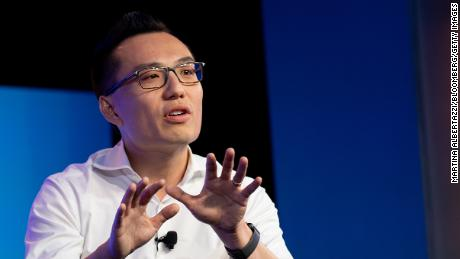 Tony Xu, co-founder and chief executive officer of DoorDash Inc., speaks during the Wall Street Journal Tech Live conference in Laguna Beach, California, on October 22, 2019.