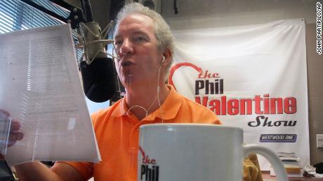 Phil Valentine talks on his show in Nashville in 2009.