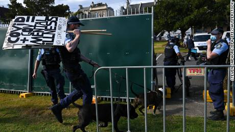 Australian Prime Minister hints at end to 'Covid zero' amid protests and record infections