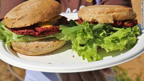Salicornia-based burgers in Dubai.