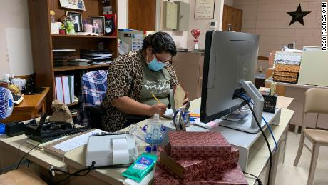 Vicky Zapata, who works for the city, has helped lead prayer vigils for Covid-19 victims and organize food deliveries for those in quarantine. Her close friends, Carla and Sammy Balderas, both got infected with Covid-19 in August.