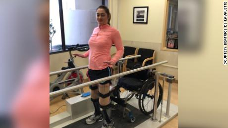 """De Lavalette, who lost both legs during the Brussels bombings in 2016, was unable to ride during her rehabilitation period, something she says """"was really hard."""""""