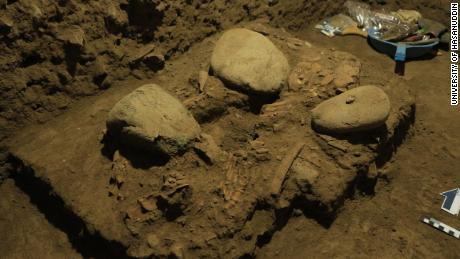 The skeletal remains of a teenage girl, buried 7,200 years ago, were found in a cave on Sulawesi.