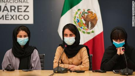 Five women from the renowned robotics team arrived in Mexico, officials said.