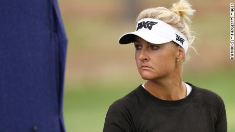 Nordqvist looks on during the third round of the 2020 Women's PGA Championship.