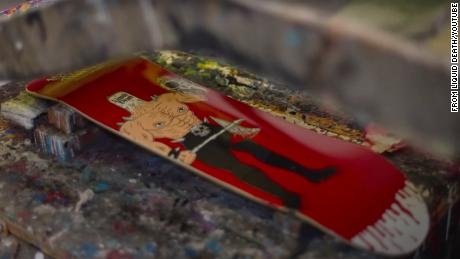 Skateboards containing American pro skater Tony Hawk's blood sell out overnight