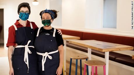 Hark! Cafe co-owners Lisa Neumann, left, and Katherine Pardue.