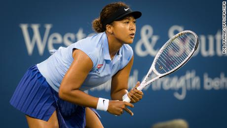 """After being knocked out of the Western & Southern Open by Jil Teichmann, Osaka reflected that making the choice to go out and play """"itself is an accomplishment."""""""