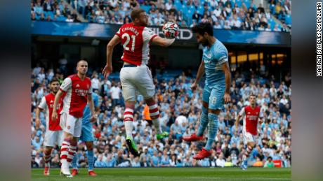 City midfielder Ilkay Gundogan scored a header to put his side ahead in the seventh minute.