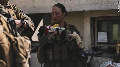The Pentagon identified Marine Corps Sgt. Nicole Gee as one of the service members killed Thursday.
