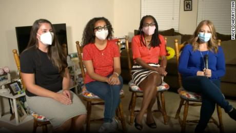Stacie Smith, Nicole Willis, Rosell Jenkins and Laura Castrillo have been advocating for a mask mandate at Humble ISD.
