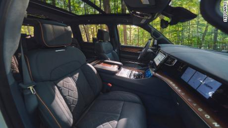 The Jeep Grand Wagoneer has a surprising level of technology throughout.