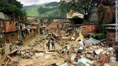 Dozens of people died during a flooding event that destroyed the barrio of San Bernardino in Caracas, Venezuela, in December 1999.