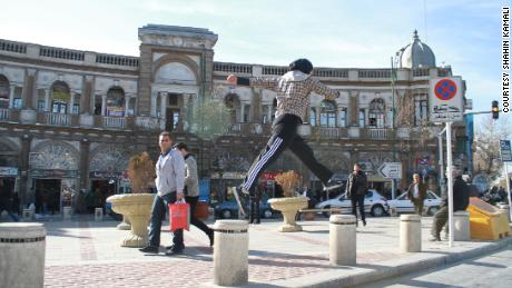 """Akrami says that practicing parkour gives her a """"feeling of freedom."""""""