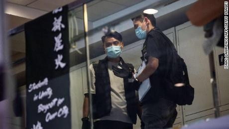 Police from the National Security Division raided the HKU student union building on July 16, 2021.