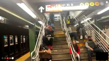 What it was like to be stranded on subway stations and trains overnight during New York floods
