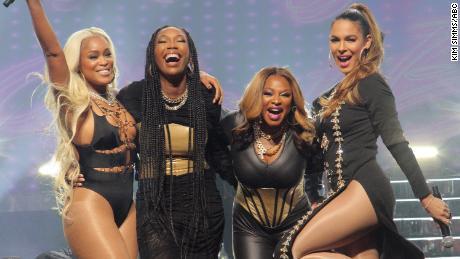 Eve, Brandy, Naturi Naughton and Nadine Velazquez in ABC's 'Queens.'