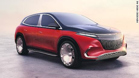 The Mercedes-Maybach EQS is an opulant large electric SUV.