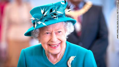 The Queen visits the Edinburgh Climate Change Institute earlier this summer.