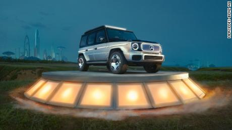 Mercedes EQG concept SUV takes its style from the famously boxy Mercedes-Benz G-class SUV.