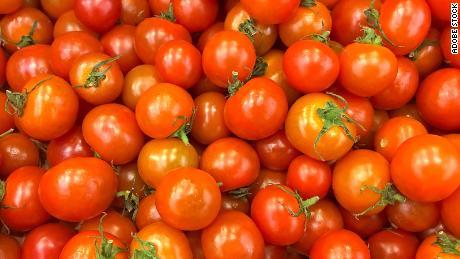 Cherry tomatoes offer a crisp, sweet bite.