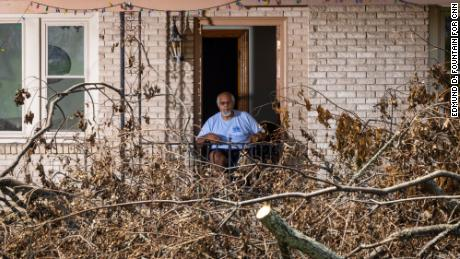 Milton Cayette Jr. was stuck in his home for two days before fallen trees could be cleared.