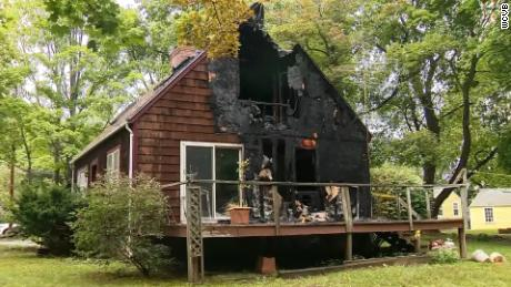 Collum rescued his neighbor from her burning house.