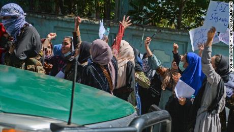 Afghan women have repeatedly braved the city's streets to protest in recent days.
