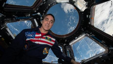 NASA astronaut Chris Cassidy is shown in the International Space Station cupola, September 11, 2020.