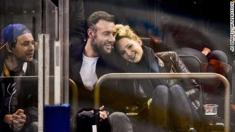 The couple, pictured here at an ice hockey match November 2018, wed in 2019.