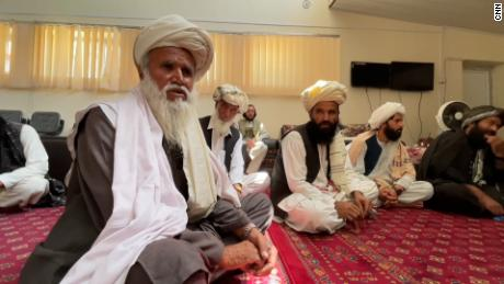 A meeting at a local court set up by the Taliban in Gardez.