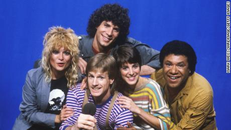 MTV's original VJs Mark Goodman, Nina Blackwood, Alan Hunter, Martha Quinn and JJ Jackson (Photo by Mark Weiss/WireImage)