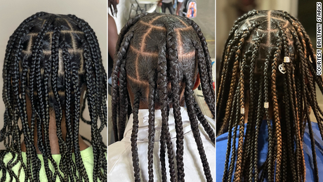 Three hairstyles done by Brittany Starks for free.