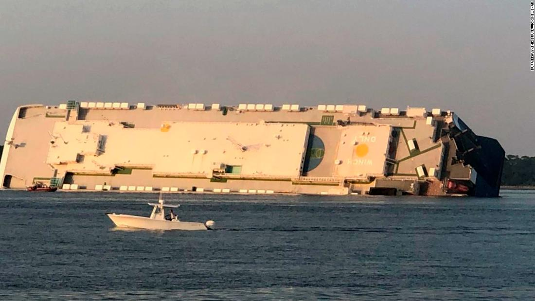 The Golden Ray cargo ship capsized because of inaccurate stability calculations, the NTSB finds - CNN