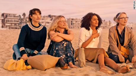 "Alexia Landeau, Elisabeth Shue, Sarah Jones and Julie Delpy star in ""On the Verge."""