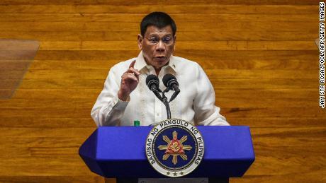 Filipinų prezidentas Rodrigo Duterte liepos 26 d. Kalbės per metinį kalbą apie tautos būklę Atstovų rūmuose Maniloje.