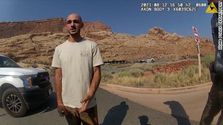 Bodycam footage from the Moab Police Department shows them talking with Brian Laundrie, who had several scratches on his face and arm.