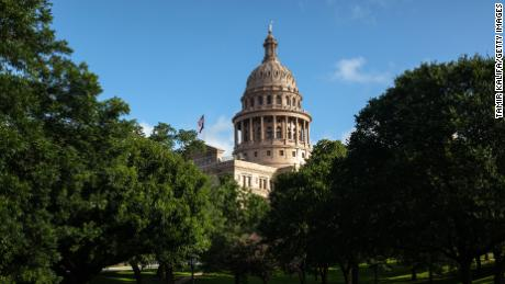 The Texas State Capitol is seen on the first day of the 87th Legislative Special Session on July 8, 2021 in Austin, Texas.