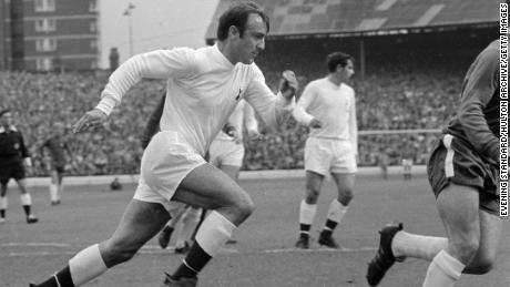 Jimmy Greaves playing for Tottenham in 1968.