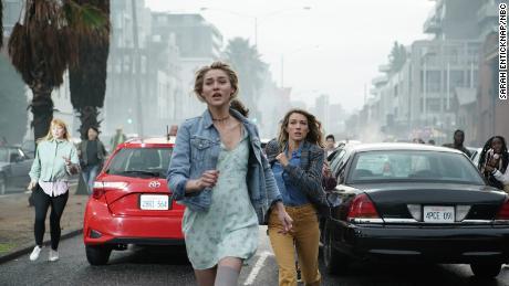 Zyra Gorecki and Natalie Zea in NBC's 'La Brea' (Sarah Enticknap/NBC)