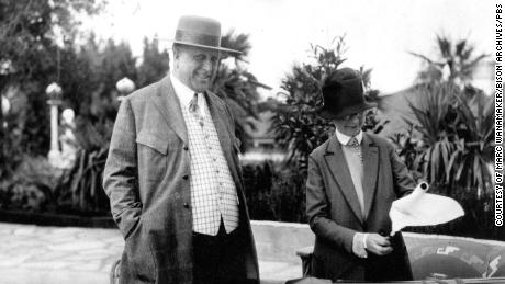 William Randolph Hearst with Hearst Castle architect Julia Morgan, as seen in 'Citizen Hearst' (Courtesy of Marc Wanamaker/Bison Archives)