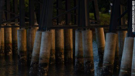 Mallory Beach was killed when a boat struck a piling on this bridge north of Marine Corps Recruit Depot, Parris Island.