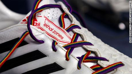 Stonewall's rainbow laces campaign runs through the month of December