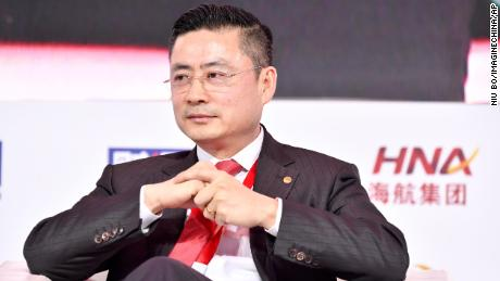 HNA Group CEO Tan Xiangdong attending a conference in Beijing in November 2017.
