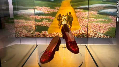 """Ruby slippers from the 1939 film """"The Wizard of Oz."""""""