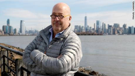 """Chef and TV personality Andrew Zimmern writes to a friend who helped him find lasting sobriety in CNN's new feature, """"With Thanks."""""""