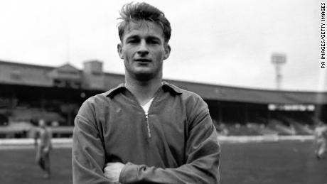 Roger Hunt, England and Liverpool, on April 3, 1962.