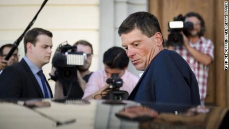 Ullrich leaves after appearing in court in Weinfelden, Switzerland, in 2015.